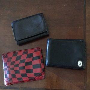 Set of 3 Men Leather Wallets Nautica, Michael Kors